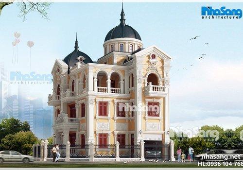 Biệt thự lâu đài 4 tầng cổ kính nguy nga BT15175