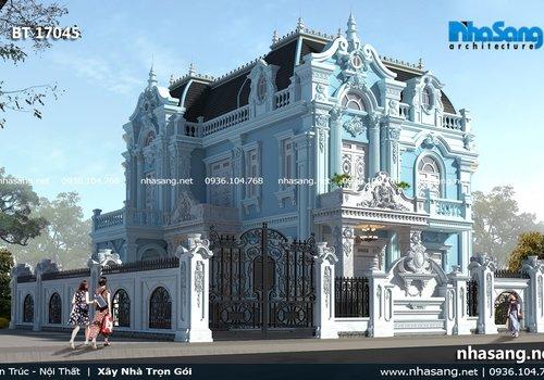 Mẫu lâu đài 3 tầng kiểu Pháp sang trọng tại Ninh Bình BT17045