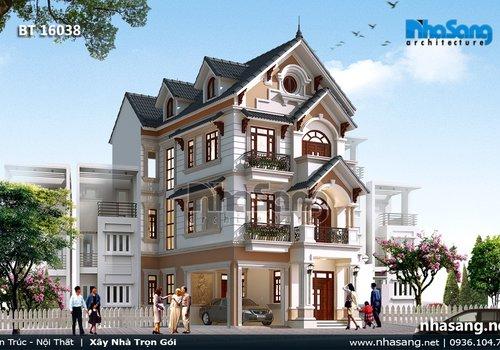 Biệt thự đẹp kiến trúc Pháp tân cổ điển BT16038