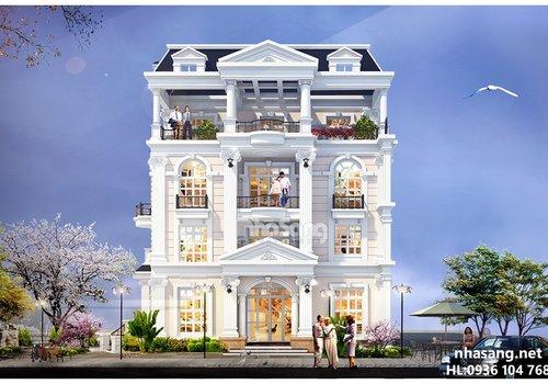 Mẫu thiết kế nhà biệt thự pháp đẹp BT14161