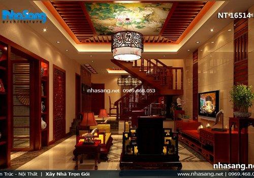Mẫu phòng khách đẹp kiểu Á Đông NT16514