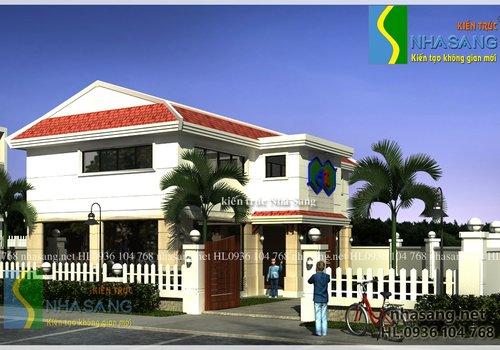 Mẫu thiết kế Biệt thự Nhà vườn đẹp 15m x 7,5m BT14121