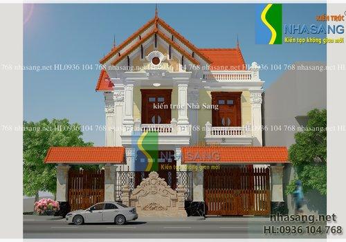 Mẫu thiết kế Biệt thự Tân cổ điển 3 tầng đẹp 9,5m x 11m BT14119 kiến trúc Nhà Sang