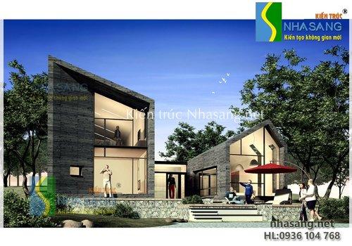 Mẫu thiết kế biệt thự 2 tầng đẹp phong cách hiện đại -kiến trúc nhà phố kiểu pháp