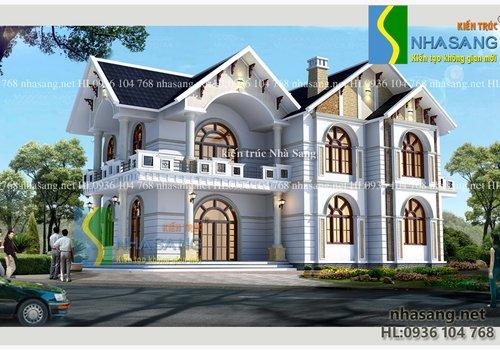 Mẫu thiết kế Nhà vườn Hải Dương 2 tầng đẹp BT14117