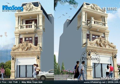 Nhà phố đẹp 3 tầng mặt tiền 5m sâu 20m BT18502