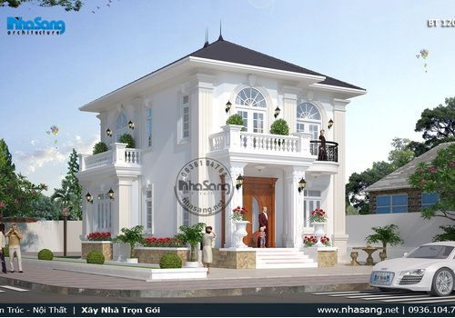 Nhà vườn 2 tầng mái Thái 100m2 10x11m 4 phòng ngủ