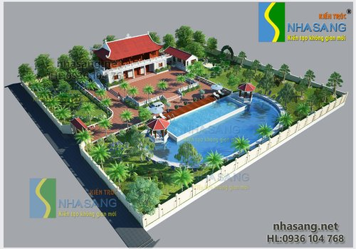 Thiết kế nhà vườn truyền thống NV14106