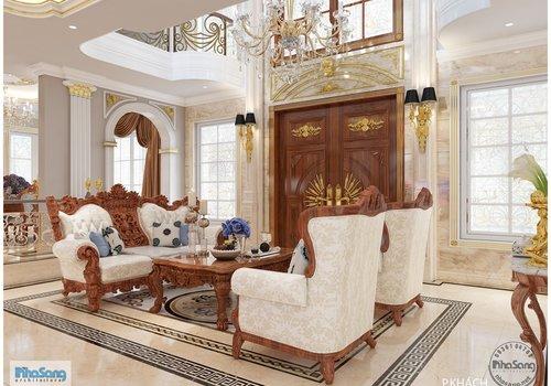 Thiết kế nội thất cao cấp biệt thự thông tầng 200m2/sàn BT19103