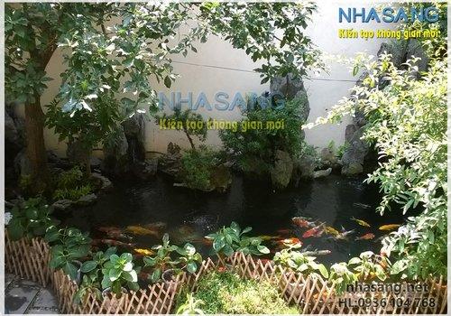 Thi công hồ cá koi HK15001