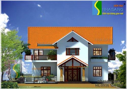 Thiết kế biệt thự 2 tầng 11m x 12m BT14076