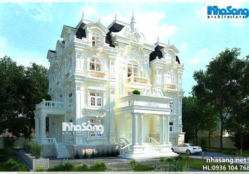 Mẫu thiết Kế Biệt thự Lâu đài BT14154 - kiến trúc nhà phố đẹp
