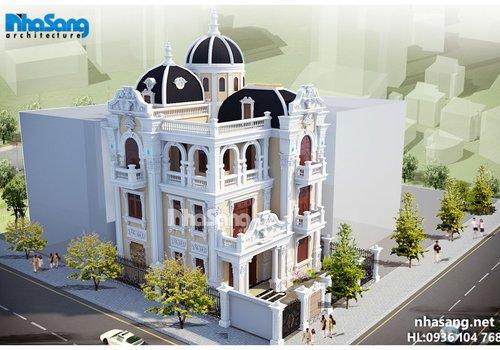 Biệt thự lâu đài 4 tầng kiến trúc Pháp mặt tiền 11m BT15152