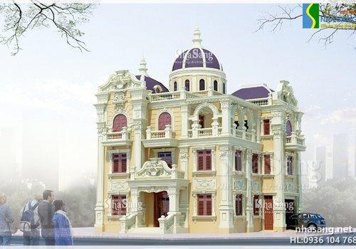 Biệt thự lâu đài 4 tầng Thanh Hóa BT14142