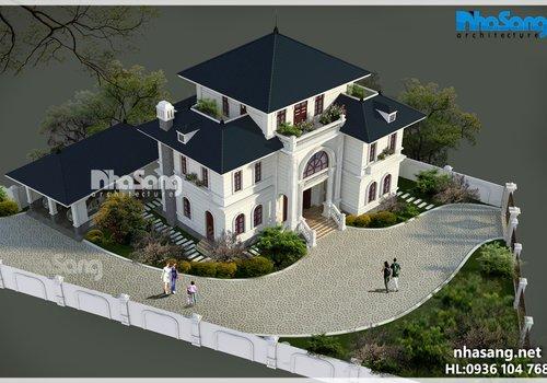 Biệt thự nhà vườn Châu Âu 3 tầng nổi bật cuốn hút BT16026