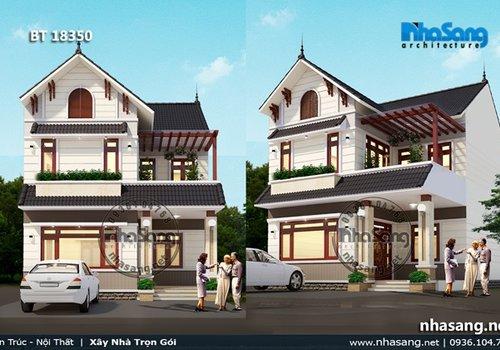 8 Thiết kế nhà phố 2 tầng đẹp | Hiện đại, mái Thái, kiểu Pháp