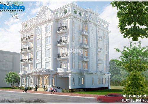 Thiết kế khách sạn - dinh thự kiểu Pháp BT15173
