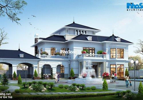 Thiết kế dinh thự trên mảnh đất 2500m2 BT14165