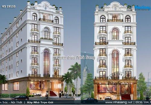 Thiết kế khách sạn 3 sao 7 tầng tân cổ điển 11.5m x 35m KS19110