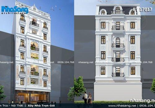 Thiết kế khách sạn mini 7 tầng BT17017