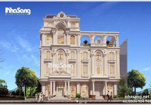 Thiết kế khách sạn 5 tầng hoành tráng BT16031