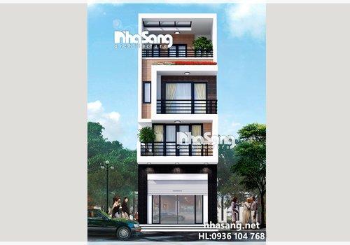 Thiết Kế Nhà Ống - nhà phố Hiện đại NO14155 - mẫu biệt thự 2-3 tầng đẹp