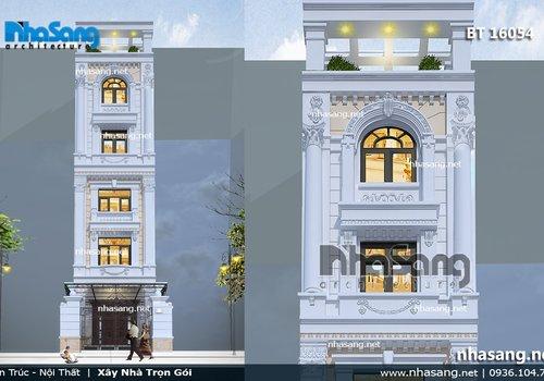 10 thiết kế nhà phố cổ điển | Mặt tiền từ 4m - 7m