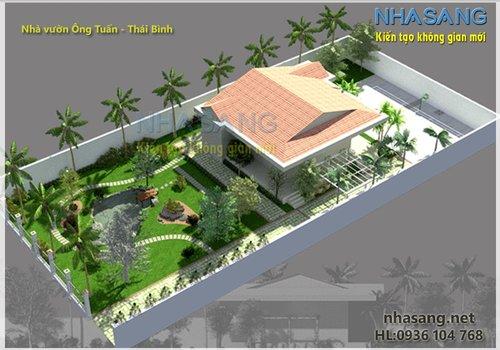 Nhà vườn truyền thống 2 tầng NV14105