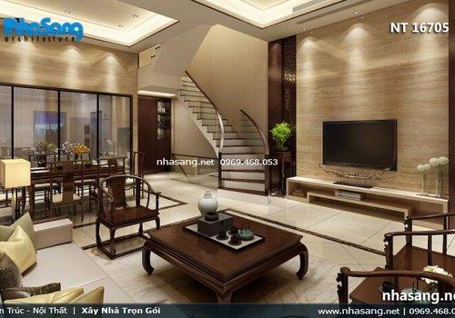 Thiết kế nội thất biệt thự nhà phố mặt tiền 6m NT16705