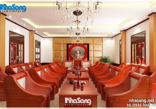 Thiết kế nội thất phòng khách quân đội NT5112 nội thất đẹp