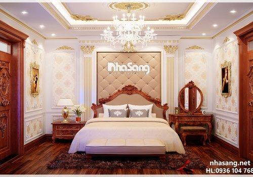 Thiết kế nội thất tân cổ điển NT14153 (CĐT: A. Quang - Hà Nội)