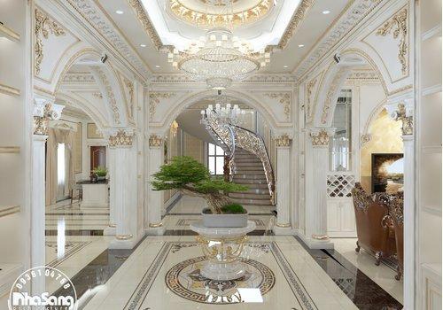 Thiết kế nội thất biệt thự lâu đài 3 tầng 180m2/sàn NT121