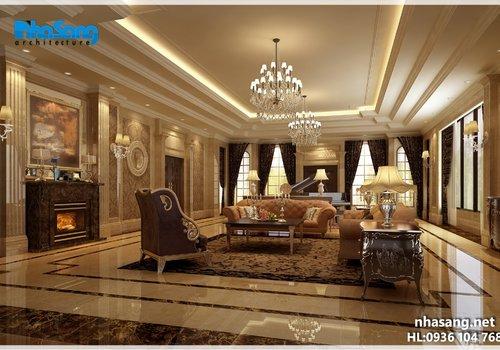 Thiết kế nội thất sang trọng gỗ óc chó NT16200