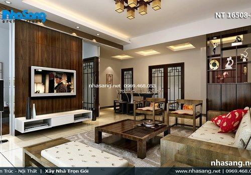 10 Mẫu thiết kế phòng khách chung cư đẹp - BST Phòng khách chung cư hiện đại NT16508