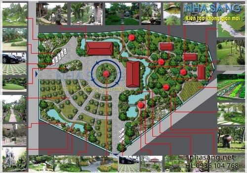 Thiết kế sân vườn NV14001