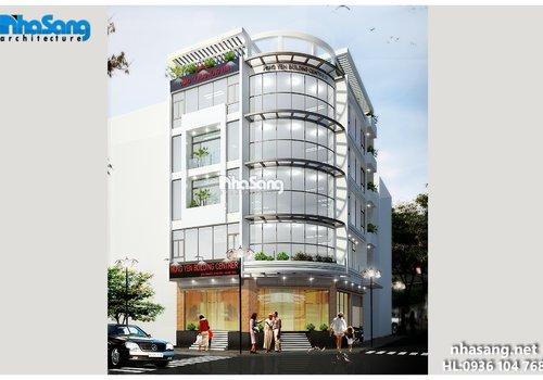 thiết kế trụ sở văn phòng 5 tầng đẹp hiện đại sang trọng BT14167
