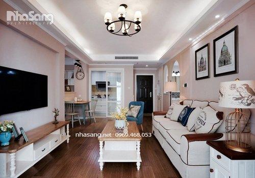 Trang trí nội thất căn hộ chung cư kiểu Mỹ NT16604