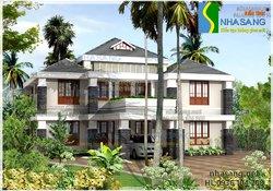 Thiết kế Biệt thự 2,5 tầng 12x11m Nhà sang BT14072