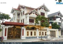 Biệt thự kiểu Pháp 2 mặt tiền cao cấp tại Thái Bình BT17373