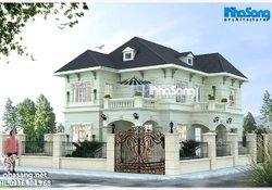 Biệt thự nhà vườn 2 tầng mặt tiền 11m5 x 12m3 BT14187 kiến trúc tân cổ điển