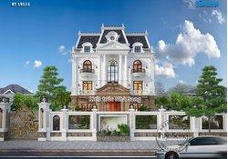 Mẫu biệt thự tân cổ điển Pháp 16m x 11m cao cấp BT19113