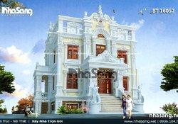 Biệt thự kiểu Pháp cổ điển 2 tầng BT16057