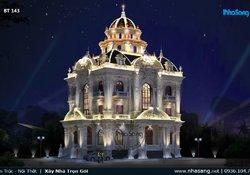 Ấn tượng biệt thự lâu đài Châu Âu 3 tầng lộng lẫy tại Nam Định BT143