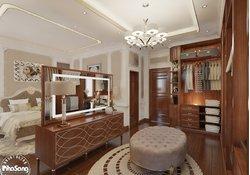 Thiết kế nội thất biệt thự tân cổ điển nhẹ nhàng full 3 tầng NT136