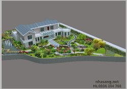 Mẫu biệt thự nhà vườn đẹp BTNV1001