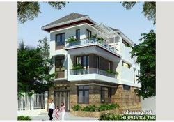 Thiết kế Nhà phố 3 tầng hiện đại mặt tiền 7m BT14164