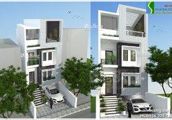 Thiết kế nhà ống - nhà phố 3,5 tầng mặt tiền 6m BT14149