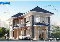 Thiết kế nhà vườn đẹp 2 tầng 15m x 8,5m BT14174