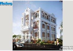 Mẫu biệt thự đẹp phong cách Pháp kết hợp ở và kinh doanh cafe - khách sạn BT14182