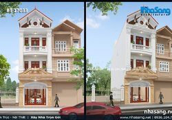 Nhà phố tân cổ điển kiểu Pháp mặt tiền 5m BT17033